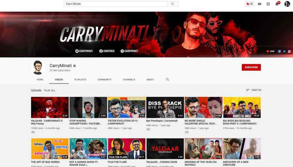 Top 10 Youtubers in India